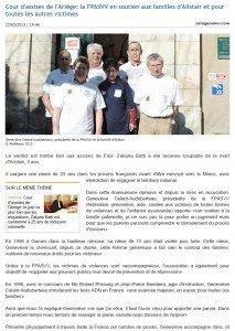 • 22/02/2013 Cour d'assises de l'Ariège: la FPASVV en soutien aux familles d'Alistair et pour toutes les autres victimes assises-213x300